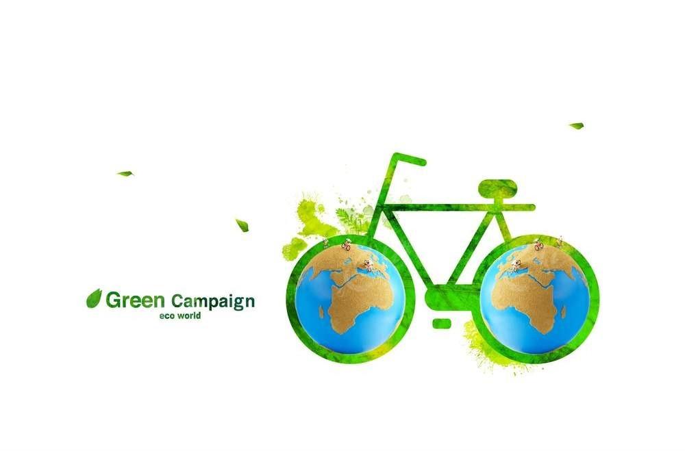 自行车公益海报psd免费下载_其他素材