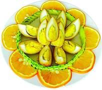卤蛋精美摆盘美食图片