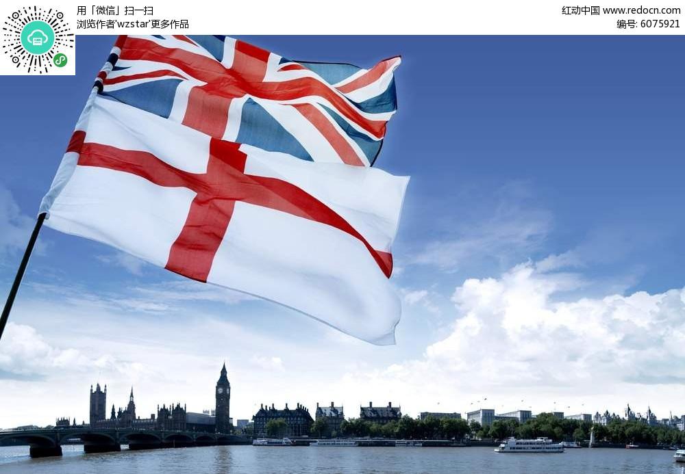 英国国旗旅游海报背景素材