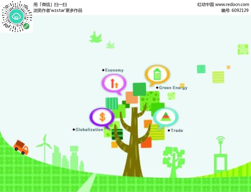 绿色科技树图片