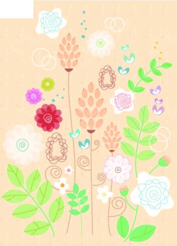 手绘漂亮花朵