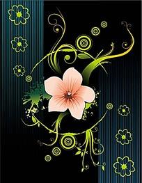 粉色花朵矢量图