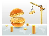 工业生产经济商务海报背景矢量素材