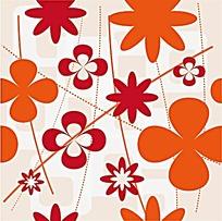 花朵虚线图案
