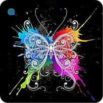 蝴蝶多彩背景