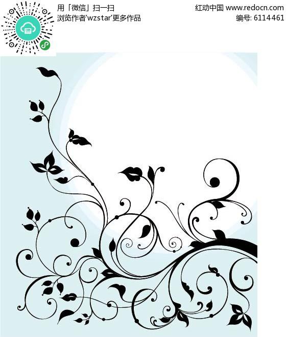 黑色欧式花边设计