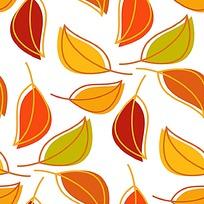 树叶印花矢量素材