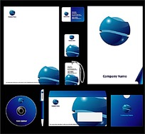 蓝色时尚背景矢量素材
