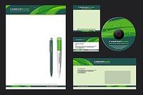 绿色清晰封面背景矢量素材