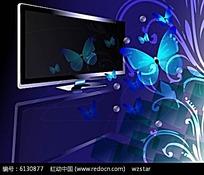 平板显示屏与花纹