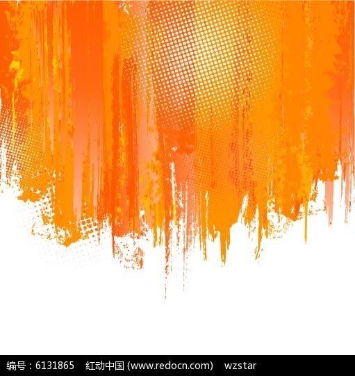 橘色水彩矢量背景素材