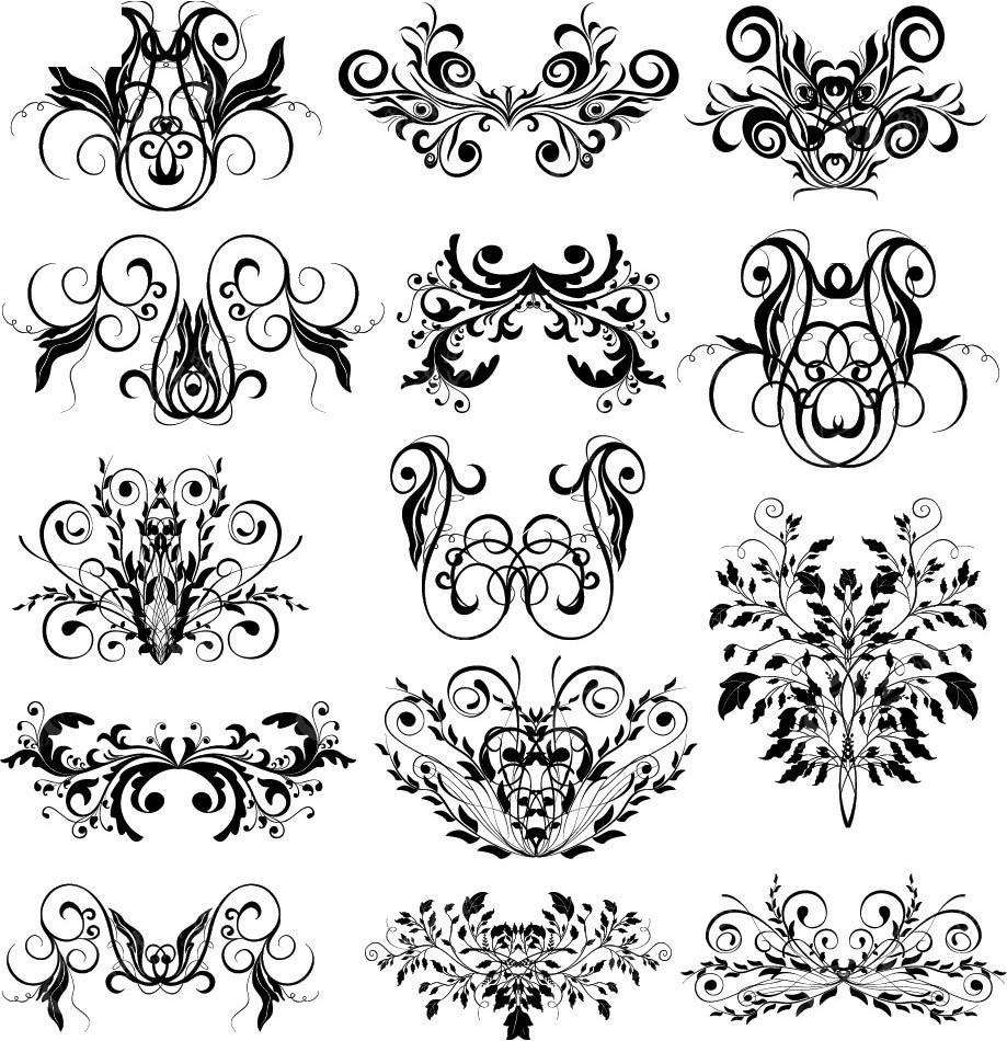 古典欧式矢量花纹