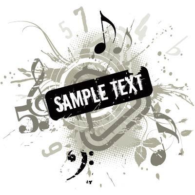 音乐符号背景图案矢量素材EPS免费下载 红动网图片
