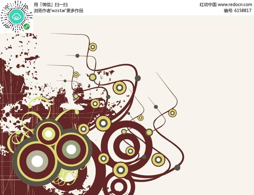 创意印花设计矢量图eps免费下载图片