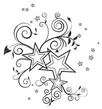 五角星边框设计