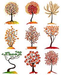 创意个性大树简笔画素材