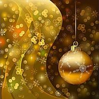 金色花纹装饰球矢量素材