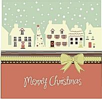 卡通可爱圣诞背景矢量素材