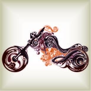 摩托车创意简笔画设计图片