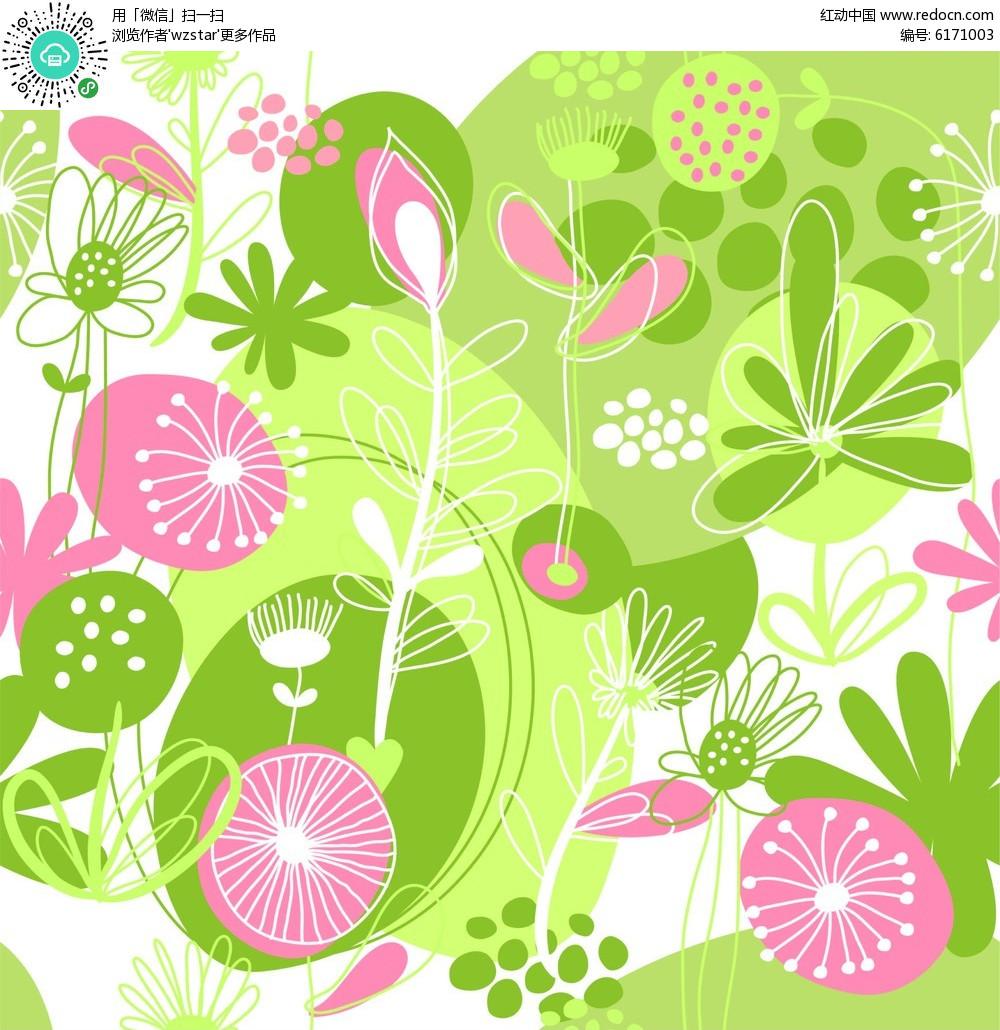 植物花朵简笔画设计