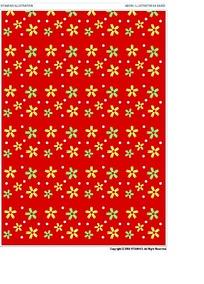 花纹红底背景素材