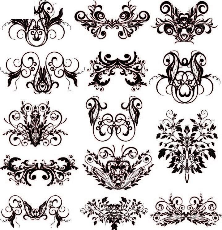 欧式花边设计图片