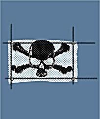 骷髅头旗帜抽象图案矢量素材