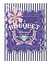 紫色卡片封面设计