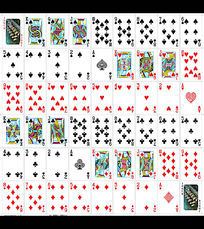 房地产扑克牌模版