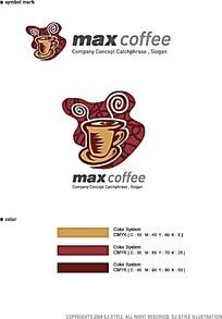 咖啡厅图标设计及配色方案