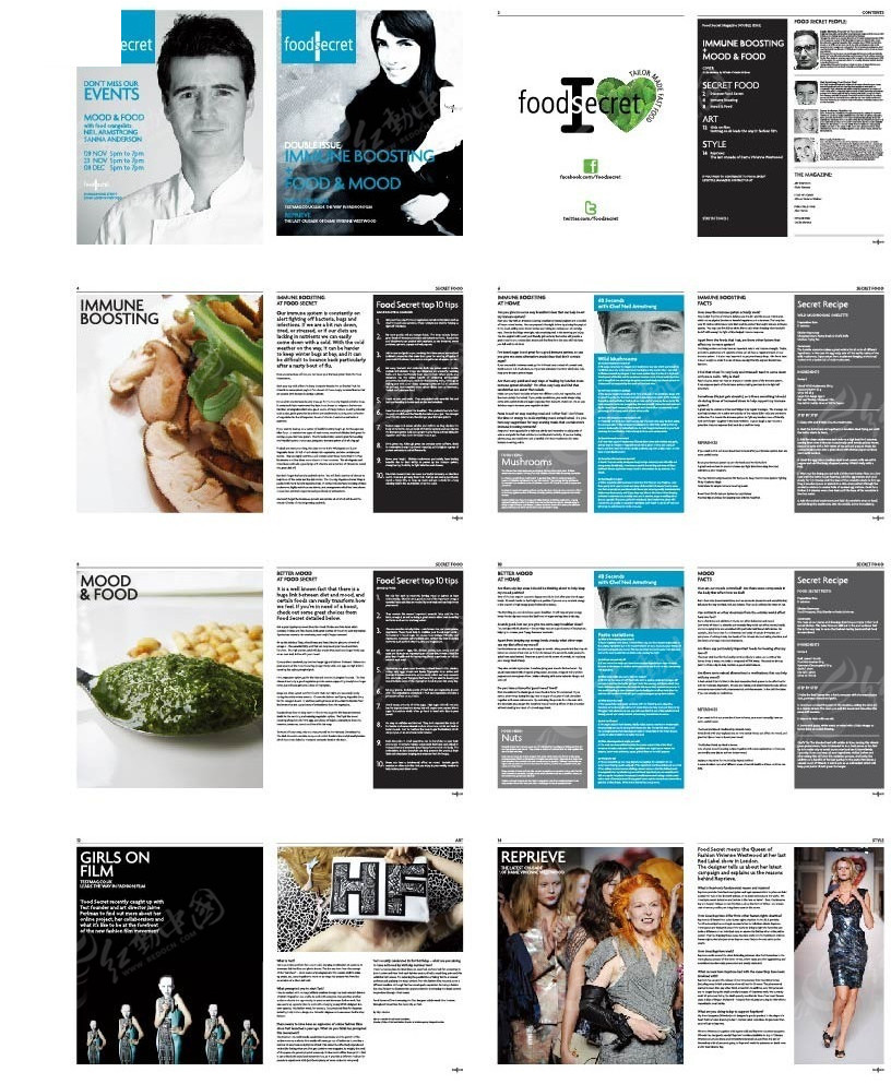 时装美食画册设计图片