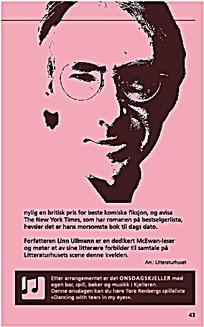 粉色人物头像书籍内页排版