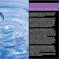水滴摄影插图杂志内页排版