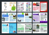 彩色排版宣传画册内页设计