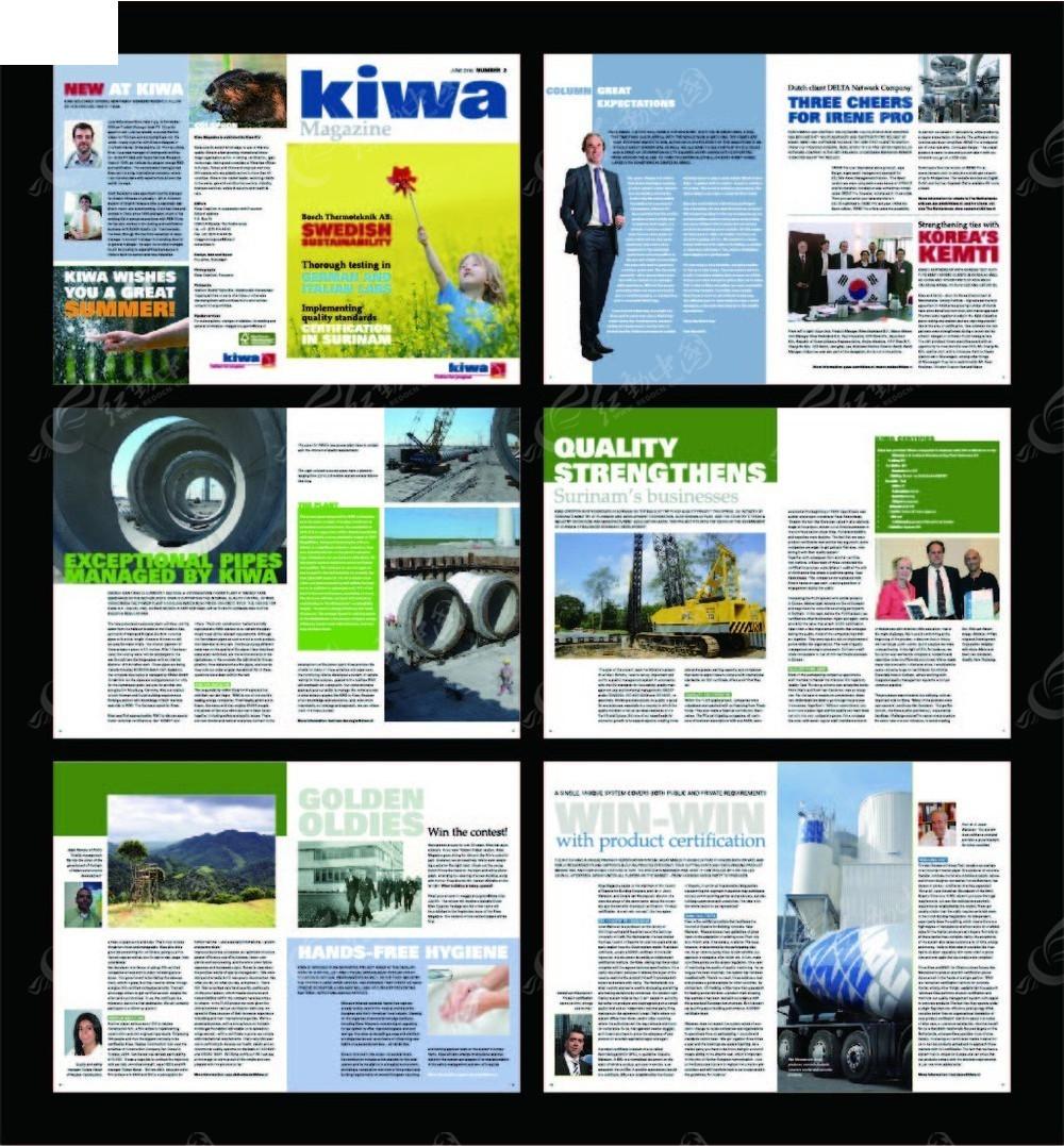 国外生产宣传画册内页设计