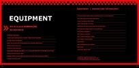 红色文字排版画册排版模板