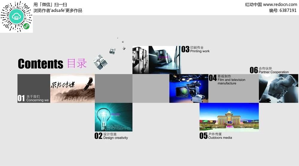 企业宣传画册内页目录设计图片