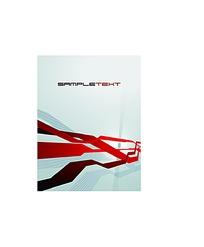 红色动感线条画册封面