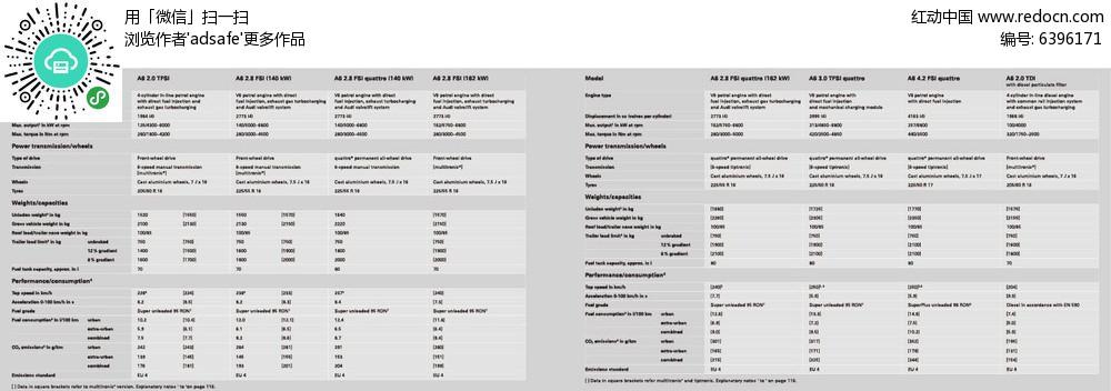英文表格排版设计ai源文件图片