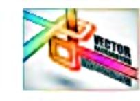 彩色管道线条画册封面