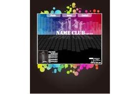 彩色舞蹈网页排版设计