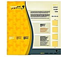 黄色创意网页排版设计