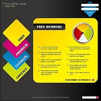 黄色商务网页排版设计