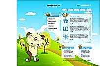 卡通网页设计矢量AI素材模板