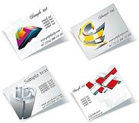 精美立体图像卡片矢量素材