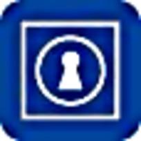 钥匙孔蓝白简约标志图案素材