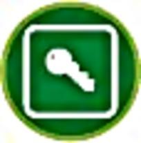 钥匙绿色图案标志素材