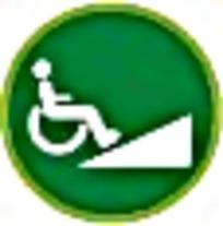 残疾人简约标志图案素材