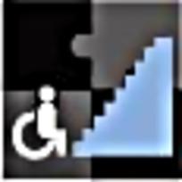 残疾人楼梯标志图案素材