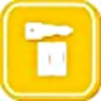 黄色钥匙简约标志图案素材
